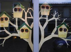 Image. Window display in Haapsula at optical outlet called Norman Optika