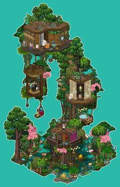 Pixel Art, Graphic Illustration, Graphic Art, Habbo Hotel, Gladion Pokemon, Modern Apartment Design, Cute House, Terraria, Interior Concept