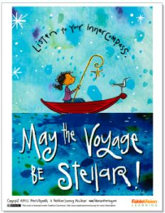 Free downloadable Stellar Voyage Poster by Peter H. Reynolds. Now through 11-9-12. FableVision Learning.