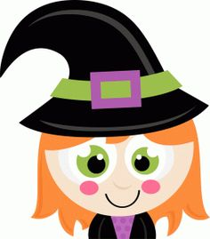 cute halloween monsters witch pumpkin spider svg scrapbook cut file rh pinterest com  cute witch hat clipart