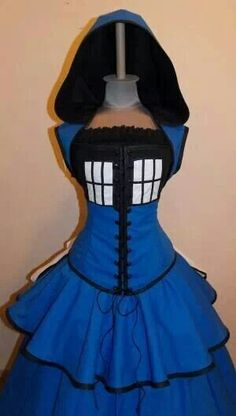 Oh how i need thee Tardis steampunk dress