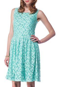 Polkadot - Karla Dress in Mint