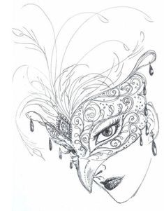 Free for personal use Venetian Mask Drawing of your choice Demon Drawings, Dancing Drawings, Masquerade Mask Tattoo, Masquerade Party, Masquerade Mask Template, Lace Masquerade Masks, Phantom Mask, Venice Mask, Mask Drawing