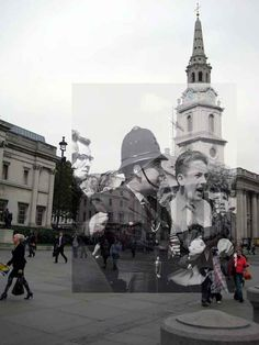 Evocative juxtapositions, courtesy of the London Museum collection. Inspired by the StreetMuseum app. London Now, Old London, Piccadilly Circus, Pink Floyd, Rio Tamesis, Comedia Musical, Ancient Greek Architecture, Gothic Architecture, London History