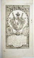 1791 Georgsorden Graf von Königsfeld - Kupferstich-Wappen