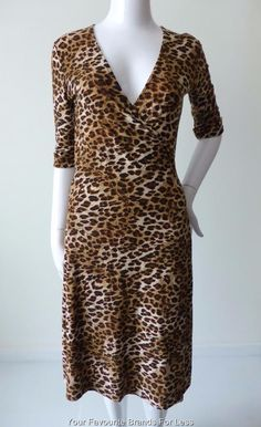 Sahara Animal Print Wrap Dress Size Medium   eBay Animal print fabrics are currently on trend so you'll be the leader of the pack in this Sahara dress. It is a figure flattering wrap dress which ties at the back. The sleeves are elbow length with cuffs. The skirt section falls into soft pleats. It is un-lined. It is a size M but may also be suitable for a size small. There is stretch in the material.