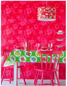 Belle Rose wallpaper from Brian Yates,  available at Tangled Tree Interiors in the UK