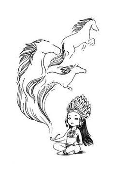 """Saatchi Online Artist Indrė Bankauskaitė; Drawing, """"Spirits"""" #art"""