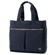 PORTER DRAFT | TOTE BAG | YOSHIDA & CO., LTD.–Navy