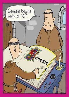 Inherit the Mirth // Gallery 1 — Cuyler Black Christian Comics, Christian Cartoons, Funny Christian Memes, Christian Humor, Church Memes, Church Humor, Catholic Memes, Haha Funny, Funny Jokes