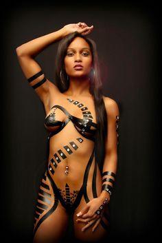 Sexy boudoir photography using black tape Black Girls, Black Women, Sexy Women, Black Tape Project, Tape Art, Girl Body, Model Photographers, Female Form, Sexy Body