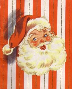 Santa, vintage card holiday printable DIY craft ephemera
