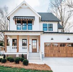 Farmhouse Porch Idead – – … – rustic home interior Dream House Exterior, Dream House Plans, Dream Houses, White Siding House, House Ideas Exterior, Home Styles Exterior, House Exteriors, Dream Home Design, My Dream Home