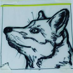 """Sandwich Bag Art (13/177) Doing an #animal theme this week and I decided not to colour them (Noah last night - """"Dad! You forgot to colour it!) and keep them messy like the original pencil sketches.  #art #creative #fox #nature"""