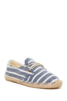 Love these!  Soludos Striped Espadrille Lace-Up Derbys