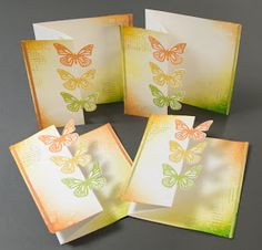 Elina's Arts And Crafts: Cards inspired by Jennifer McGuire: Partial die-cutting