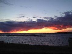 Solnedgang over Christiansø. (Foto: Charlotte Kring. © Brugerbillede)