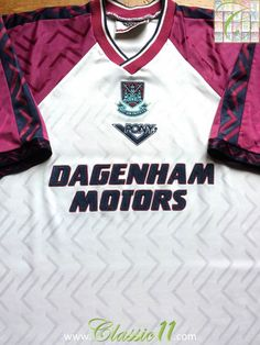 1994 95 West Ham Away Shirt (L) 84f68bcc0