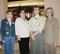 CTHC's education department brings home a Great Expectations Model School award for the 2006-07 year. From left, Keri Bradley, Kim Goddard, Darla Carpenter and program director Dianne Stuart, who started the museum in the GE organization.