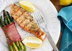 Grilled Garlic Dijon Herb Salmon         |          Skinnytaste