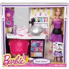 Barbie Barbie Malibu Ave Salon with Barbie Doll Playset Box # Value and Details Barbie Shop, Barbie Doll Set, Barbie Hair, Doll Clothes Barbie, Barbie Doll House, Barbie Toys, Barbie Dream House, Doll Hair, Barbie Stuff