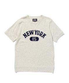 【BEAMS / スウェット ディテールTEE】こう見えて、実はTシャツです。衿や袖、そして裾にリブを施しスウ…