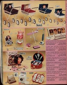 I had a pram like no 1 and the Casdon cash till. Loved them both. Vintage Toys 1960s, 1970s Toys, Vintage Pram, Retro Toys, Vintage Ads, 1980s Childhood, Childhood Memories, Sweet Memories, Home Shopping Catalogues