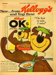 "1962 - Kellogg's OK""s Cereal - Featuring Yogi Bear"