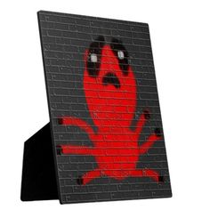 Red Spider Brown  Wall Painting, Art by Kids :) Display Plaques