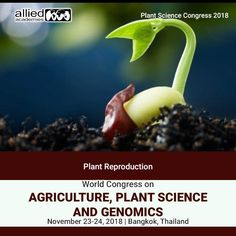 #Plant Reproduction is creating the new individuals or offspring in the plants, which can be known by Biogenetic proliferation or by sexual. This reproduction produces by ...cont Medical Conferences, World Congress, Plant Science, Health Care, Plants, Plant, Planets, Health