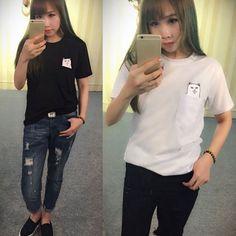 Fashion Men Womens Unisex Soft T-shirts Cat Pocket Blouse Tops Shirts #Unbranded #Blouse
