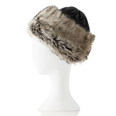 Cashmere Hat with Faux Fur Trim | Mark and Graham