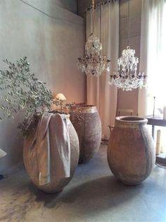 Decorating With French Biot Jars - decoration,wood,wood working,furniture,decorating Olive Jar, Pot Jardin, Deco Addict, Garden Urns, Rustic Elegance, Timeless Elegance, Simple Elegance, Rustic Chic, Elegant