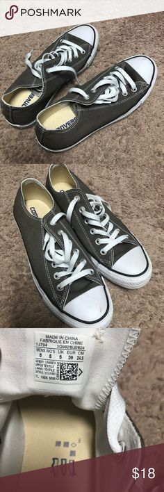 Converse Like new! Barely worn. Size 8 Olive green Converse Shoes Athletic Shoes