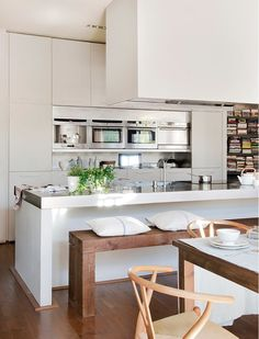 i love the built-in appliances.  would be great to have everything in one place and not using extra space.
