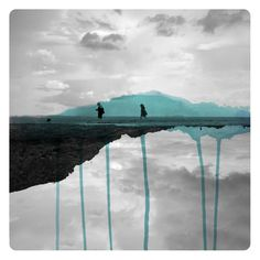 Fabienne Rivory - mirroir couleur 01 Photos en miroirs colorés  design bonus art