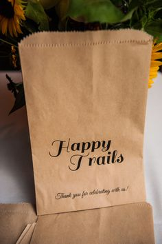 Trail Mix for a wedding favor ... fitting for the theme & venue!!