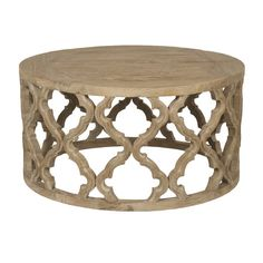 Draw the eye in any room with this stylish coffee table, showcasing an openwork Moroccan-inspired base and distressed brown finish. P...