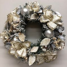 Wintry flocked wreath. Christmas Wreaths To Make, How To Make Wreaths