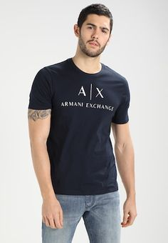 Armani Logo, New York Yankees, Hats For Men, Emporio Armani, Lacoste, Running, Mens Tops, T Shirt, How To Wear