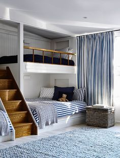 Youngsters Bedroom Furnishings – Bunk Beds for Kids Trendy Bedroom, Kids Bedroom, Bedroom Decor, Bedroom Ideas, Bed Ideas, Bedroom Wall, Bedroom Beach, Bedroom Bed Design, Design Room