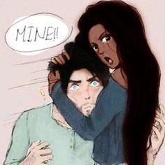 Cute interracial couple illustration #wmbw #bwwm
