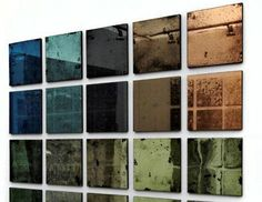 Dominic Schuster'scollection of colour tinted antique mirror glass