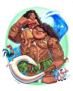 Maui and Moana.
