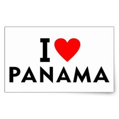 I love Panama country like heart travel tourism Rectangular Sticker - heart gifts love hearts special diy