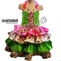 Woodland creatures dress with epic twirl factor