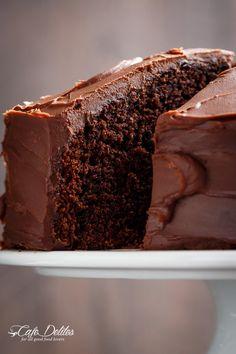Best Fudgy Chocolate Cake - Cafe Delites