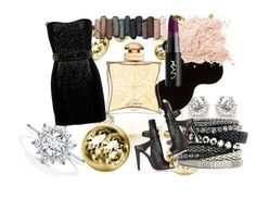 """""""New Year"""" by tamara-sucha ❤ liked on Polyvore featuring Balmain, Christian Louboutin, H&M, Urban Decay and Hermès"""
