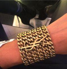 LOVE, love, love! Yves Saint Laurent bracelet! Women's designer fashion accessories jewelry