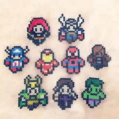 The Avengers perler beads by beadaholics
